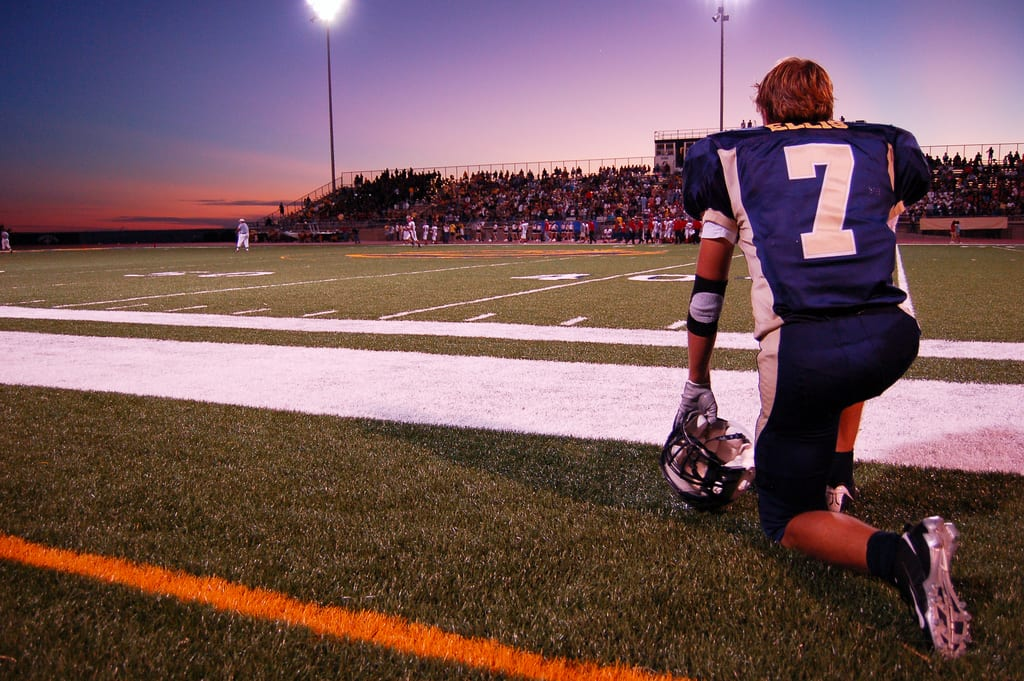 Hischool_football_sunset