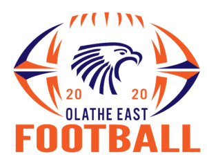 east 2020 football decal logo white